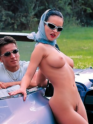 Michelle Wild enjoys a good ride in the car